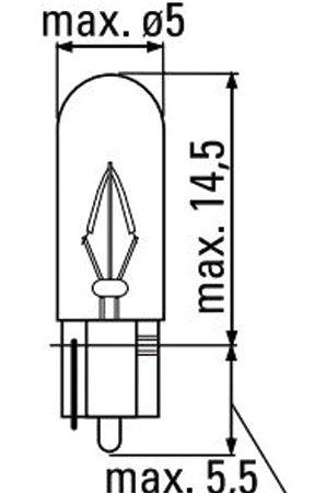 LÁMPARA OBN WEDGE 12V 1.2 W T5