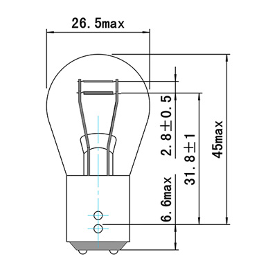 LAMPARA OBN 12V 21/4W BAZ15D