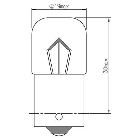 LAMPARA OBN R5W 12W 5V